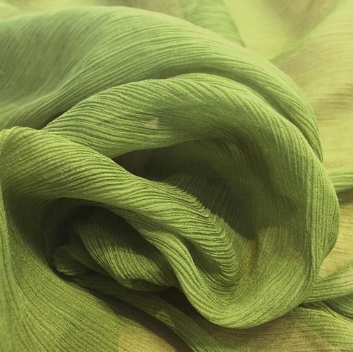Шелк-шифон креш ярко-зеленый