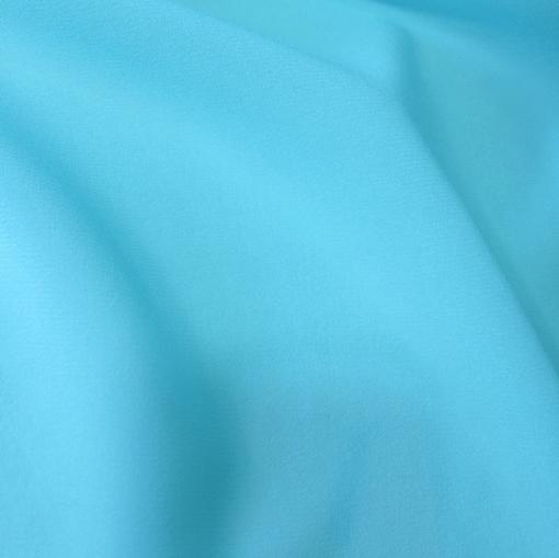 Шелк креповый шифон стрейч голубого цвета