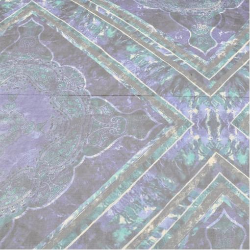 Шелковые шифоновые платки сине-зеленые