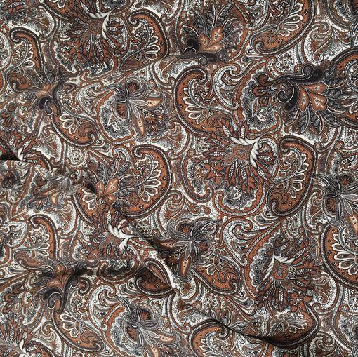 Вискоза плательная плотная принт ETRO серо-коричневая гамма