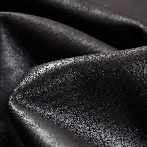 Искусственная кожа (крек) на трикотажном подкладе в серую полосу