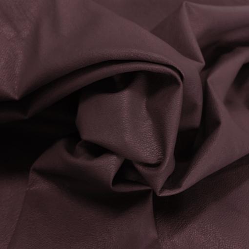 Кожа искусственная стрейч La Perla баклажанного цвета