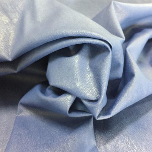 Кожа искусственная стрейч La Perla небесно-голубого цвета