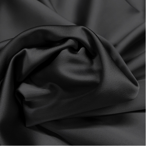 Атлас стрейч костюмный Armani чёрного цвета