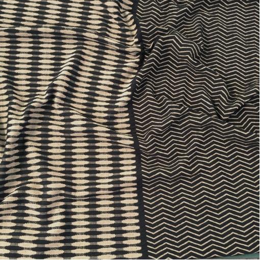 Джерси жаккардовое стрейч Gucci купон черно-песочного цвета