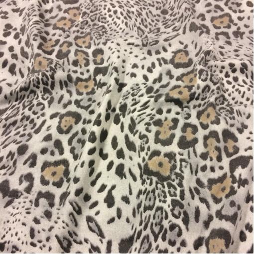 Ткань шерстяная костюмная Roberto Cavalli мягкая с леопардовым рисунком