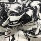 """Хлопок нарядный принт Chanel """"рогожка"""" с абстрактным рисунком"""
