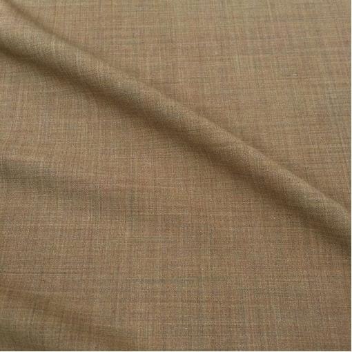 Ткань костюмная шерстяная стрейч светло-коричневого цвета