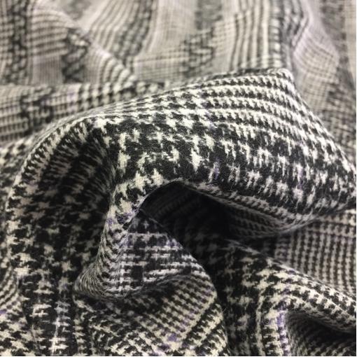 Ткань костюмная Sportmax пье-де-пуль с набивным узором