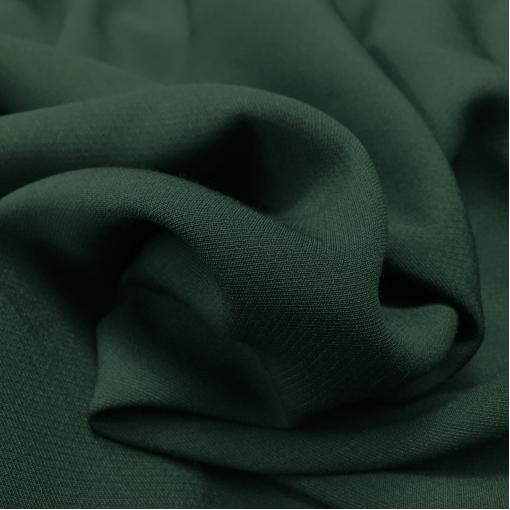 Ткань костюмная шерстяная стрейч темно-зеленого цвета