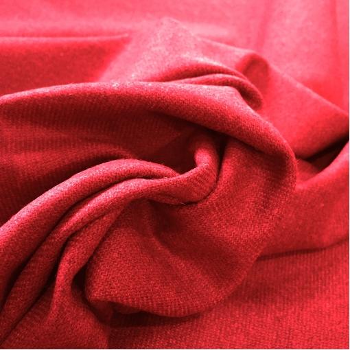 Ткань костюмная шерстяная мягкая калинового цвета
