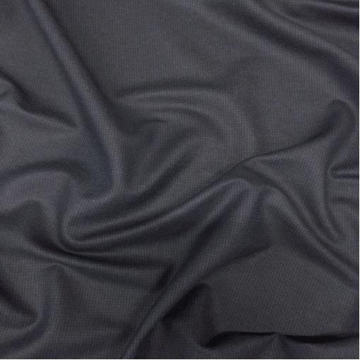 Ткань костюмная шерстяная стрейч пье-де-пуль в сине-черных тонах
