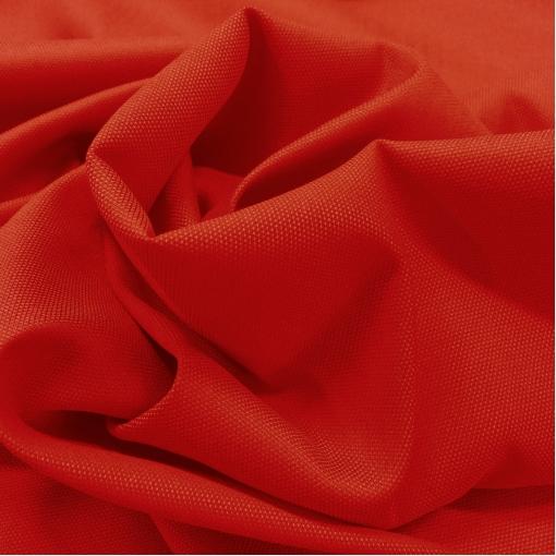 Ткань костюмная шерстяная рогожка стрейч алого цвета