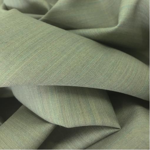 Ткань костюмная шерстяная тонкая светло-оливково-бирюзового цвета