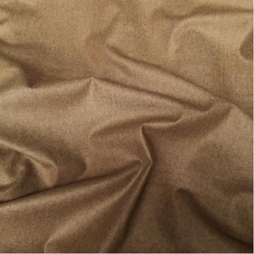 Ткань костюмная шерстяная стрейч песочно-кофейного цвета