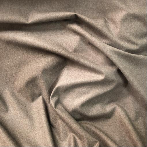 Твид костюмный шерстяной стрейч меленькая клетка песочно-бежевого цвета