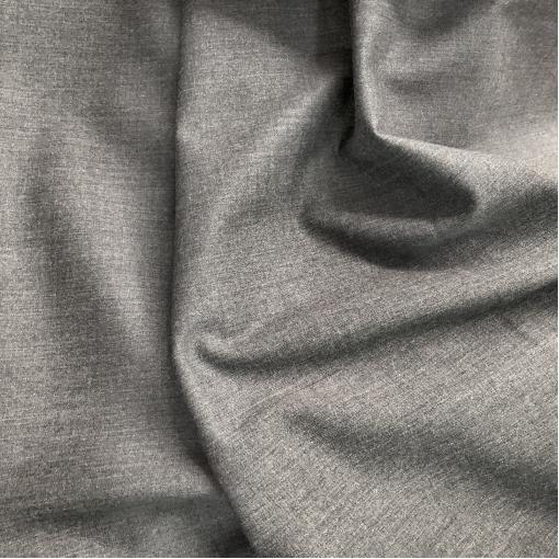 Твид костюмный шерстяной стрейч средне-серого цвета
