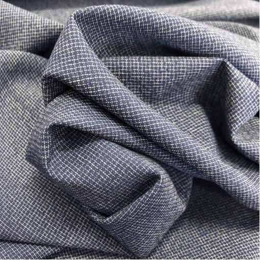 Ткань костюмная шерстяная Dior в мелкую ( 2мм ) клетку синего цвета