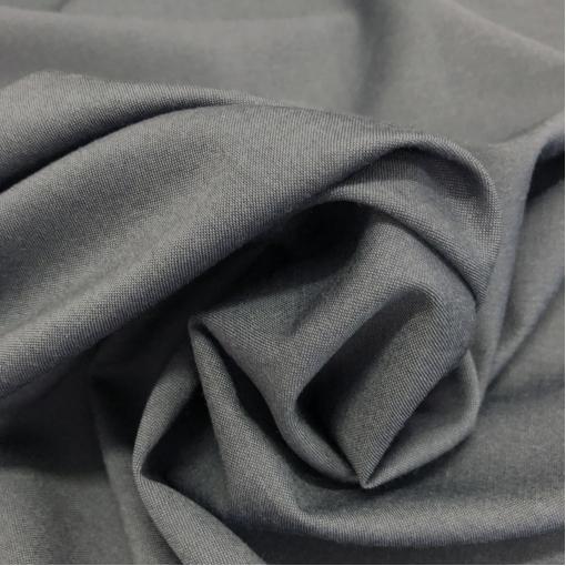 Ткань костюмная шерстяная стрейч пыльно-черного цвета с отливом
