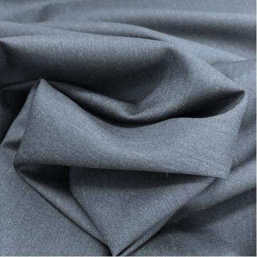 Ткань костюмная шерстяная пыльно-синего цвета с отливом