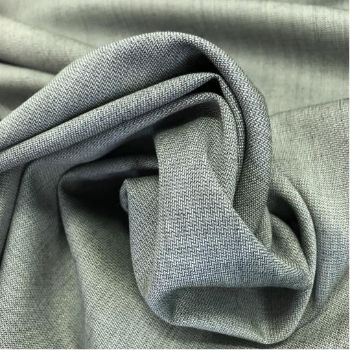 """Ткань костюмная шерстяная в меленькую """"елочку"""" серо-бирюзового цвета"""