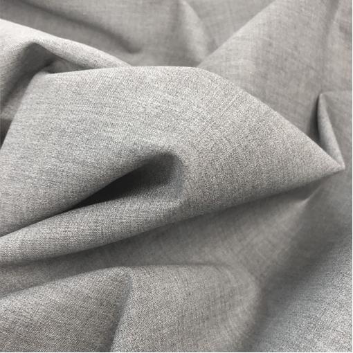 Ткань костюмная стрейч средне-серого меланжевого цвета