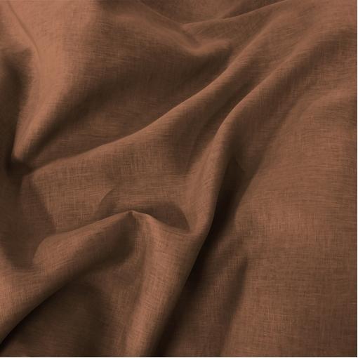 Лен плательно-костюмный Ferragamo цвета молочного шоколада