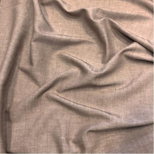 Лен костюмно-плательный стрейч цвета разбелёного какао