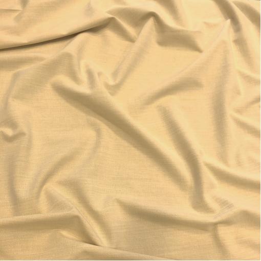 Лен костюмно-плательный стрейч цвета лимонного мороженого