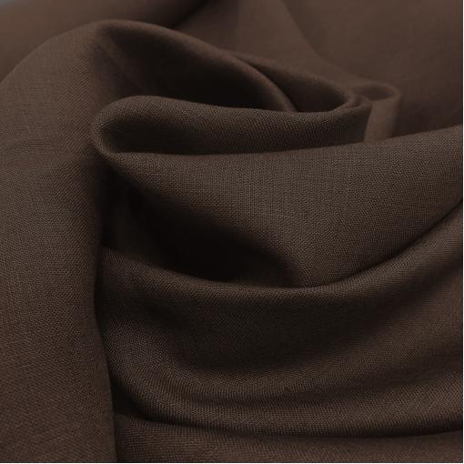 Лен костюмный цвета горького шоколада