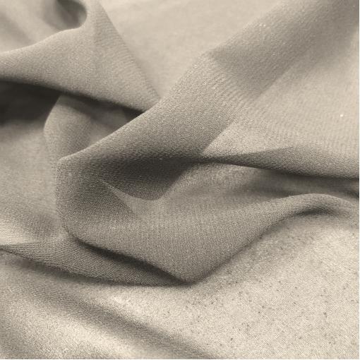 Шелк шифон стрейч матовый устрично-серого цвета