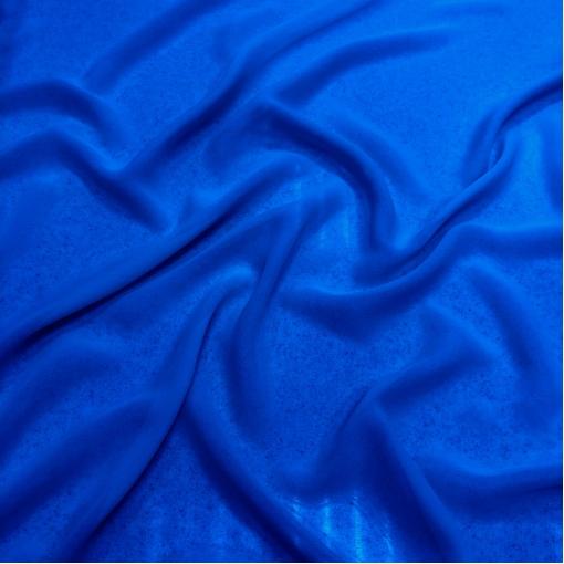 Шелк шифоновый стрейч ярко-синего цвета электрик