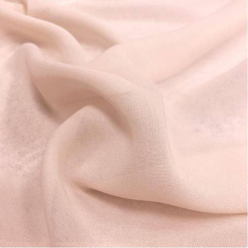 Шелк шифон стрейч матовый разбелённого персиково-розового цвета