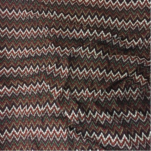 Трикотаж нарядный Missoni полоски с люрексом в красно-шоколадных тонах