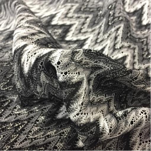 Трикотаж нарядный Missoni полоски с люрексом в черно-белых тонах