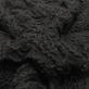 Трикотаж вискозный с объемными вышитыми цветами черного цвета