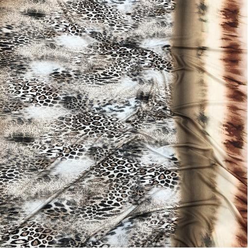 Трикотаж вискозный мягкий принт купон имитация меха леопарда