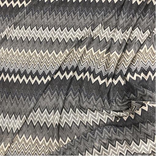 Трикотаж вискозный тонкий вязаный Missoni в серо-бежевых тонах