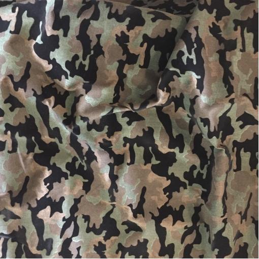 """Ткань курточная принт Max Mara с флоком стиль """"милитари"""""""