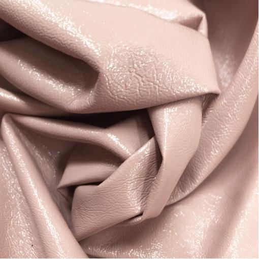 Кожа искусственная стрейч La Perla лаке пыльно-розового цвета