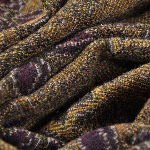 Жаккард пальтово-костюмный в сиреневых тонах