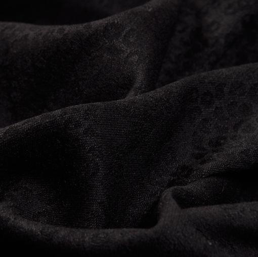 Жаккард стрейч черного цвета с имитацией пайеток