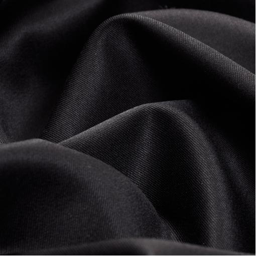 Костюмная тонкая шерсть стрейч черная с отливом