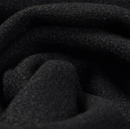 Пальтовый черный креп
