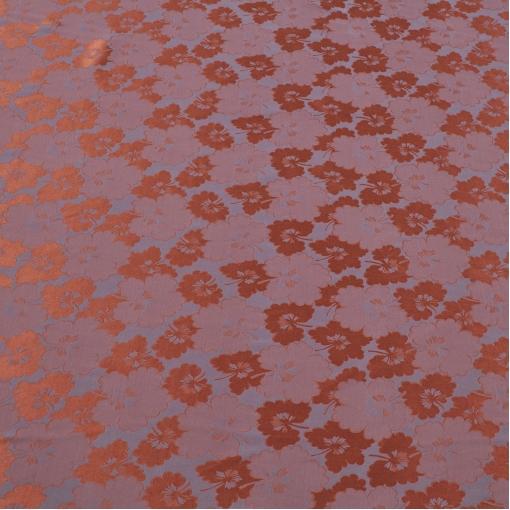 Шелк жаккардовый матовый с глянцевыми цветами RoccoBarocco