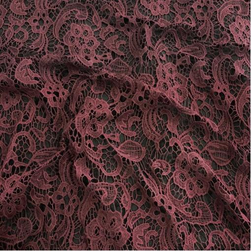 Кружево хлопковое макраме Alberta Ferretti свекольного цвета