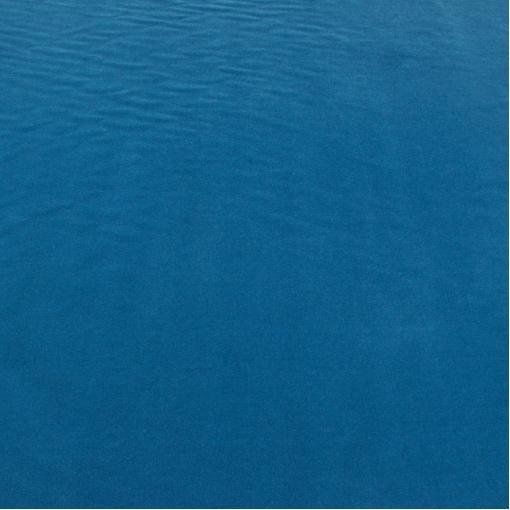 Вискозный бархат ярко-голубого цвета