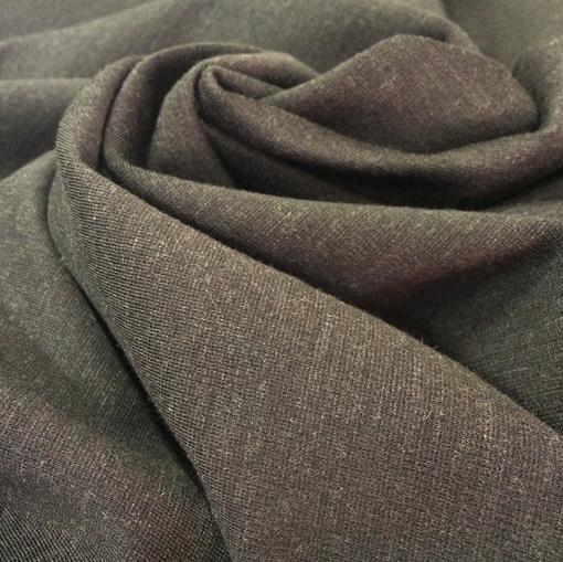 Джерси шерстяное плотное серо-коричневого оттенка
