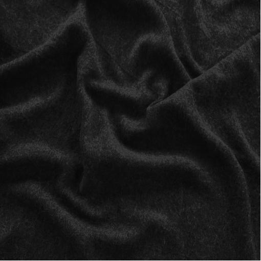 Лоден шерстяной стрейч черного цвета