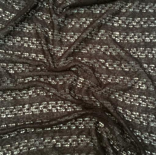 Паутинка шерстяная ажурная цвета горький шоколад